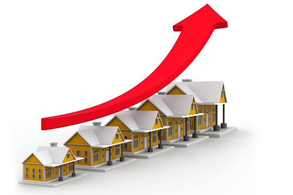 Talon arvon nousu