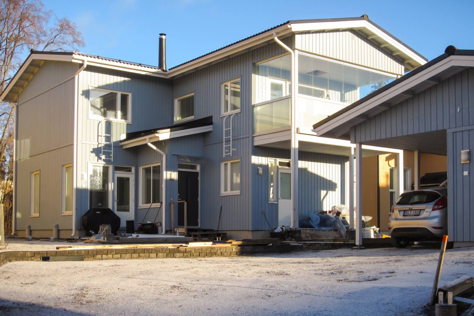 Uusi omakotitalo maalämpö Espoo Kauklahti