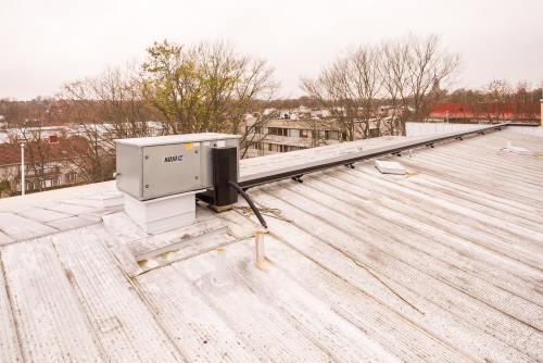 Poistoilman lämmön talteenotto kerrostalon katolla
