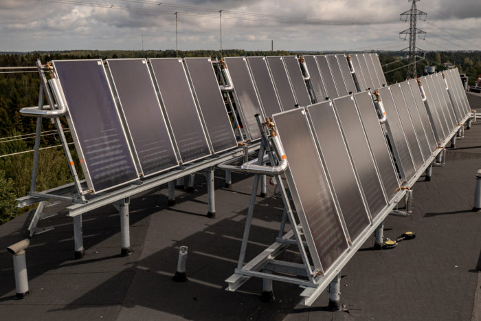 aurinkokeräimet osoittavat etelään