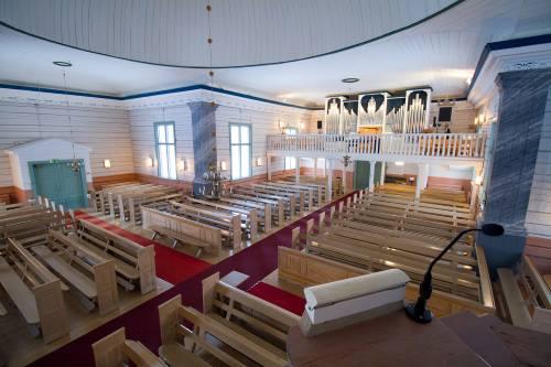 Ylikiimingin kirkon sisätilat